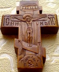 Резьба. Деревянный крестик с АНГЕЛАМИ.