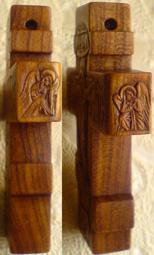 Резьба. Крестик деревянный с АНГЕЛАМИ.