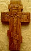 Резьба. Крестик с ангелами.