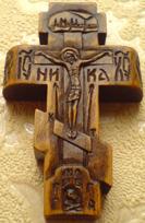 Резной крестик с АНГЕЛАМИ.
