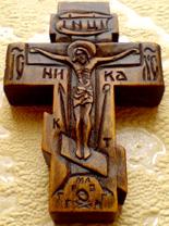 Резной деревянный крестик с АРХАНГЕЛОМ Михаилом и АРХАНГЕЛОМ Гавриилом