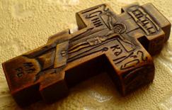 Нательный крестик с АРХАНГЕЛАМИ
