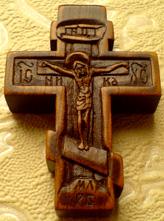 Резной крестик с ликами