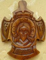 Резной крест нательный СПАС. Все крестики на сайте ручной резьбы