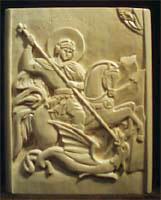 Резьба по дереву. Икона св. вмч.Георгий Победоносец