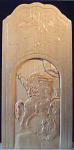 Резьба по дереву. Икона св. вмч. Георгий Победоносец