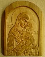 Резьба. Анна, мать Пресвятой Богородицы.