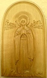 Резьба по дереву. Икона Мария Магдалина