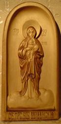 Резная Валаамская икона Божией Матери.