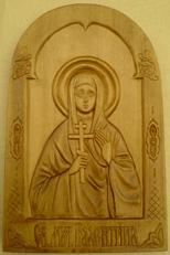 Резная Икона Святая Валентина