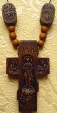Деревянные иконки к крестику с ЛИКАМИ Св. благоверного князя Олега Брянского и Богородицы Почаевской