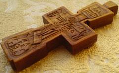 Резной крест нательный