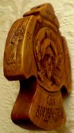 Резной крест нательный с ангелами. Спас.