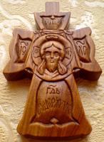 Резной крестик нательный
