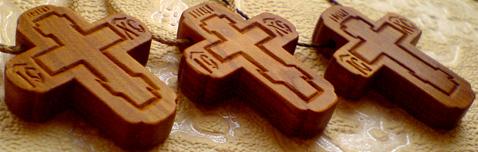 Резной крестик маленький
