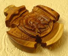 Деревянный крестик. Спас