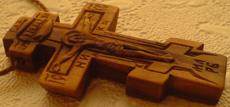 Деревянный нательный крестик
