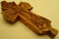 Резной крест параманный