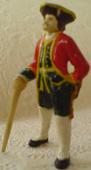 Резная миниатюра морского офицера.